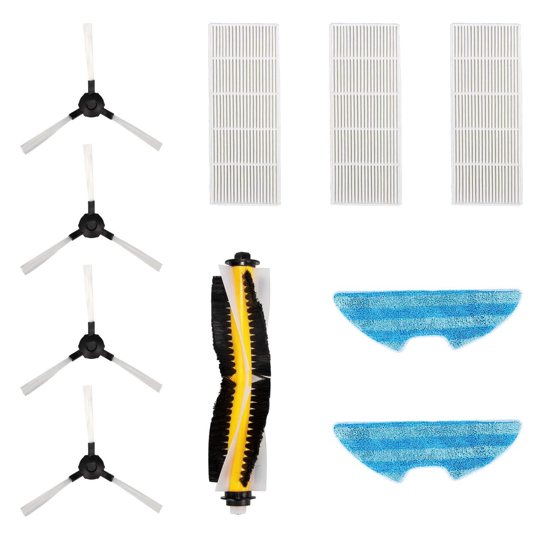Bagotte BL509 Saugroboter Zubehör (4 x Seitenbürste, 3 x HEPA-Filter, 2 x Tücher, 1 x Pinsel)