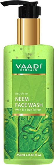 Vaadi Herbals Anti-Acne Neem Face Wash With Tea Tree Extract, 250 ml
