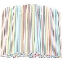 600/1200PCS Strohhalme Plastik Trinkhalm Plastik - Flexible Kunststoff Trinkhalme für Zuhause, Bar, Partys (1200 Stück)