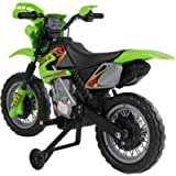 Outsunny HOMCOM Kids Electric Motorbike Child Ride on Motorcycle 6V Battery Scooter (Green)