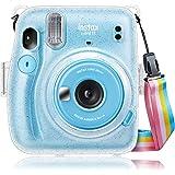 Fintie Transparant Case Tas voor Fujifilm Instax Mini 11 Camera - Kristallen Harde PVC Koffer met Afneembare Regenboog Schoud