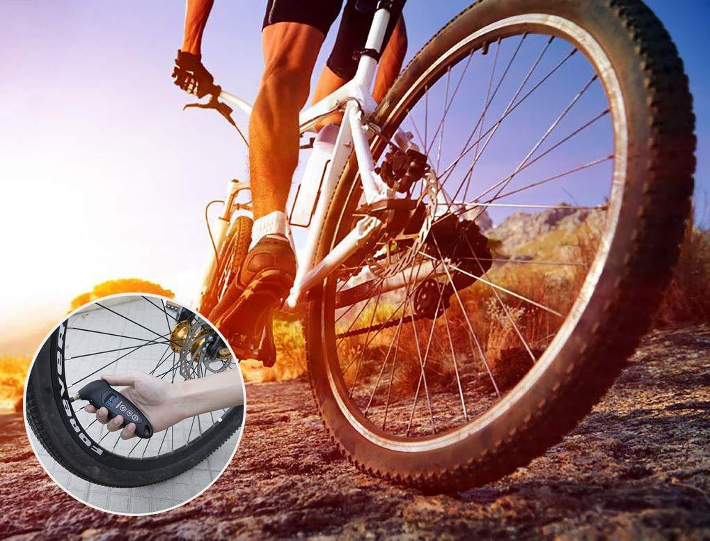 VIDEN Tire Gauge Medidor Digital de Presión Neumáticos, Pantalla Iluminada LCD, 150 PSI 4 Ajustes, Luz LED Boquilla…