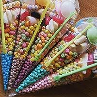 eventabox Pre Filled Millions Sweet Cones Colours Kids Party Bags Children's Birthday (5, Blue (Bubblegum))