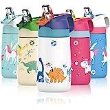 FJbottle Drinkfles voor kinderen, 350 ml, roestvrij staal, vacuüm-geïsoleerde waterfles, BPA-vrij, lekvrije thermosfles, kind