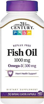 21st Century Omega-3 Fish Oil 1000 mg E.C SG - 90 Capsules