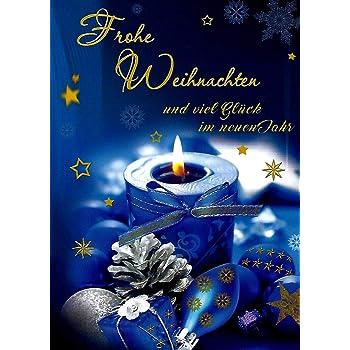 Weihnachtskarten mit umschlag set und neujahrsgr en 10 gl ckwunschkarten klappkarten hochformat - Weihnachtskarten amazon ...
