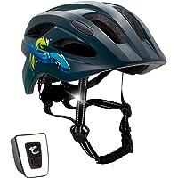 Fahrradhelm mit licht für Kinder - und Jugendliche | Größe 54-58 I Ansprechender Kinder-Fahrradhelm für Jungs und…