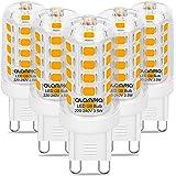 G9 Ledlamp, 3,5 W, warm wit, 3000 K, 5 stuks met 160 leds, 400 lumen, warm wit licht, vervangt 40 W G9 halogeenlampen, G9-glo