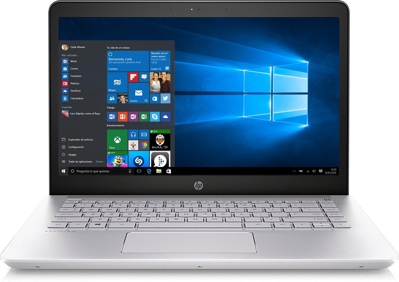 HP 14-bk001ns Pavilion  – Ordenador portátil 14″ FHD (Intel Core i5-7200U, 8 GB RAM, 256 GB SSD, Intel HD Graphics 620,Windows 10 Home 64), Plata