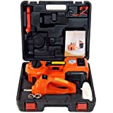 Automotive Electric Hydraulic Floor Jack 12V DC 3T with Electric Impact Wrench 4 in 1 Electric Car Jack Tool Kit with LED lam