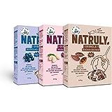 NATRULY BIO Granola, Noten en Zaden, Graan- en Glutenvrij, Zonder Geraffineerde Suikers, Vegan. 3 Smaken: Chocolade, Bramen,