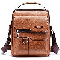 Sacoche Homme Sacs à Bandoulière Vintage Sacoche Bandoulière Cuir Petite Shoulder Bag Crossbody Business Cartable Besace…