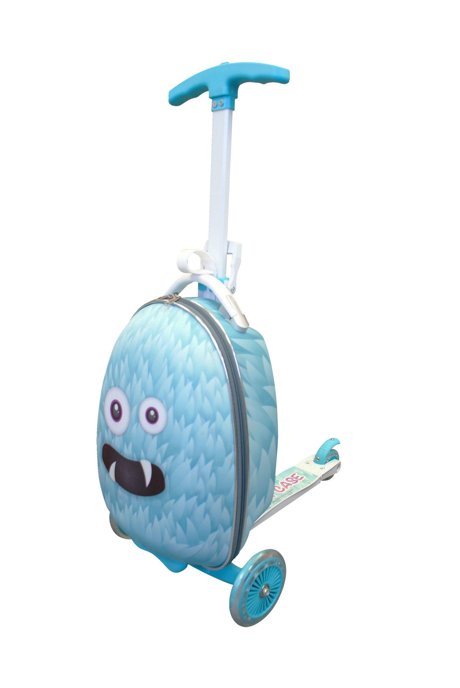 Gone-Travelling-Scuit-Case-Kinder-Koffer-mit-Roller-Violett