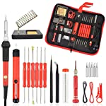 Soldering Iron Kit, Womdee 22pcs Electronics Soldering Iron Tool with 60w 220v Adjustable Temperature Welding Iron, 5pcs...