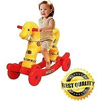 Shiv Online Toys 2 in 1 Baby Horse Rider   Rocker for Kids 1-3 Years Birthday Gift for Kids/Boys/Girls (Multicolour)