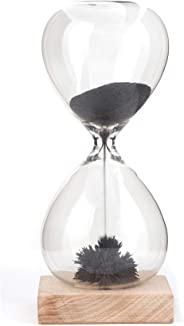 Magnet Hour Glass Sand Timer Desktop Accessories in Black
