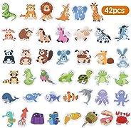 Baobë Magnetic Animals,Refrigerator Magnets for Kids,42 Pieces,Animals Fridge Magnet,Kids Educational Toys