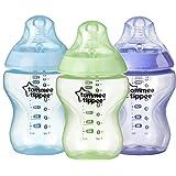 زجاجات رضاعة تومي تيبي كولور ماي وورلد 3×260 مل