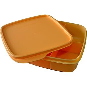 Tupperware Fun Meal Plastic Container, 550ml, Orange