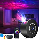 LED Sternenhimmel Projektor,3D Galaxy Projektor Light mit RGB Dimming,Smart Nachtlicht mit Alexa/Google Assistant,Unterstützt