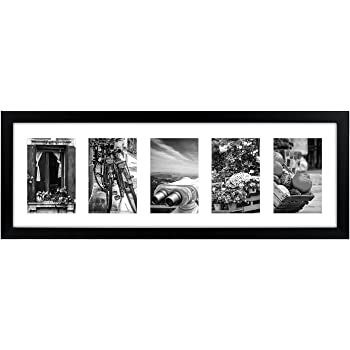 Buy PRINTELLIGENT Black Collage Picture Frame with 5 Openings; Made ...