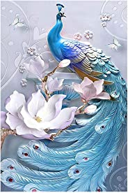 5D DIY Diamond Painting Full Drill Summer Beach by Number Kits for Adults, Embroidery Rhinestone Shell & Night Seaside Paint with Diamonds Crystal Cross Stitch Wall Decor