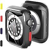 KKM Pellicola Protettiva Compatibile con Apple Watch SE Series 6 Series 5 44mm Cover, Vetro Temperato Custodia,2 Pack, Botton