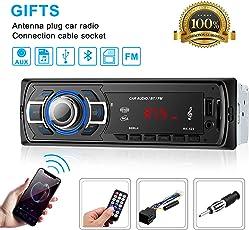 OCDAY Autoradio mit Bluetooth Freisprecheinrichtung,Single DIN Autoradio mit Bluetooth und USB/SD/AUX für Samsung/iPhone/Android,MP3-Player/ Freisprechfunktion und integriertes Mikrofon UKW-Radio
