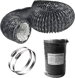Abluftschl/äuche f/ür Klimager/ät W/äschetrockner Homewit Abluftschlauch 6 Meter Durchmesser 125mm Isolierter Aluminium Flexschlauch L/üftungsschlauch Abzugshaube Trockner Abluftventilator usw.