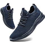 FUJEAK Herren Walkingschuhe Turnschuhe Fitnessstudio Sportschuhe Sneaker Running Tennis Schuhe Freizeit Straßenlaufschuhe Fas