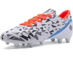 DREAM PAIRS Boys Girls Football Boots Soccer Cleats Shoes Toddler/Little Kid/Big Kid HZ19003K
