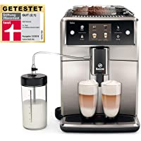 Saeco Xelsis SM7683/00 Kaffeevollautomat, 15 Kaffeespezialitäten (Touchscreen, 6 Benutzerprofile) Edelstahl/Schwarz