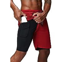 Danfiki Mens Running Shorts,Workout Running Shorts for Men,2-in-1 Stealth Shorts,Gym Yoga Outdoor Sports Shorts