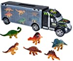 Toys Bhoomi Dinosaur Carrier Transport Car Truck with 6 Dinosaurs Educational Toy Cars Set Birthday Gift for Boys Girls...