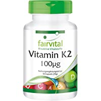 Vitamine K2 100mcg, naturelle, +99% all-trans MK-7, ménaquinone, végan, sans antiagglomérant, 90 gélules, Approvisionnement pour un trimestre