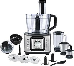 Inalsa INOX 1000-Watt Food Processor (Black/Silver)