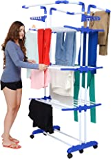 Magna Homewares® Premium Heavy Duty 3 Poll-3 Layers Super GRANDIS Cloth Drying Stand