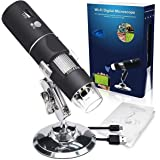 VIBOTON WiFi Digital Microscope,50X-1000X Handheld Digital Zoom Microscope Endoscope Magnifier HD 2MP 8 LED for Android and i