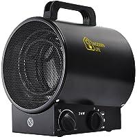 MODERN LIFE Radiateur Soufflant Chauffage Industriel Autoportant éTanche pour Atelier Maison Garage L'Usine RéChauffeur d'air 3 Vitesses avec Le Thermostat Silencieux