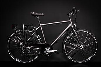 "28"" Zoll Alu MIFA Herren Trekking Fahrrad Shimano 21 Gang Nabendynamo anthrazit Rh 55cm"