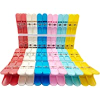 Saha Fancy Heavy Duty Non Slip Multi Purpose Plastic Clothes Hanging Hooks Grip Cloth Drying B.P.L Clips. Cloth Pegs Set…