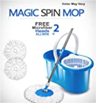 ALLWIN's Home Cleaning 360° Spin Floor Cleaning Easy Advance Tech Bucket PVC Mop & Rotating Steel Pole Head with 2...