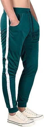 MISSKY Men's Casual Daily Jogger Pockets Pants Sweatpants