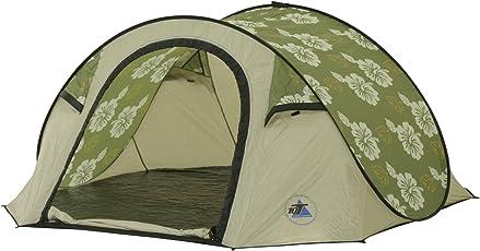 10T Camping-Zelt Flowerpop 3 Pop-Up Wurfzelt mit Schlafkabine für 2 Personen Automatik-Zelt mit eingenähter Bodenwanne, Dauerbelüftung, wasserdicht mit 5000mm Wassersäule