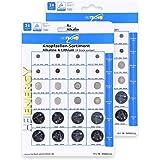 HEITECH Knopfzellen Sets 24er, Knopfzellen - Größe:48 Stück, Knopzellen - Farbe:Alkaline & Lithium Set