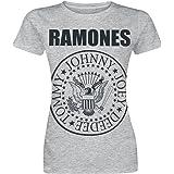 Ramones Seal Donna T-Shirt Grigio Sport Regular