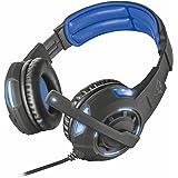 Trust GXT 350 Radius USB 7.1 Gaming Kopfhörer (7.1 Surround Sound, LED-Beleuchtung, geeignet für PC) schwarz