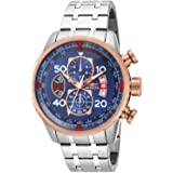 Invicta Men's 17203 AVIATOR Stainless Steel and 18k Rose Gold Ion-Plated Watch