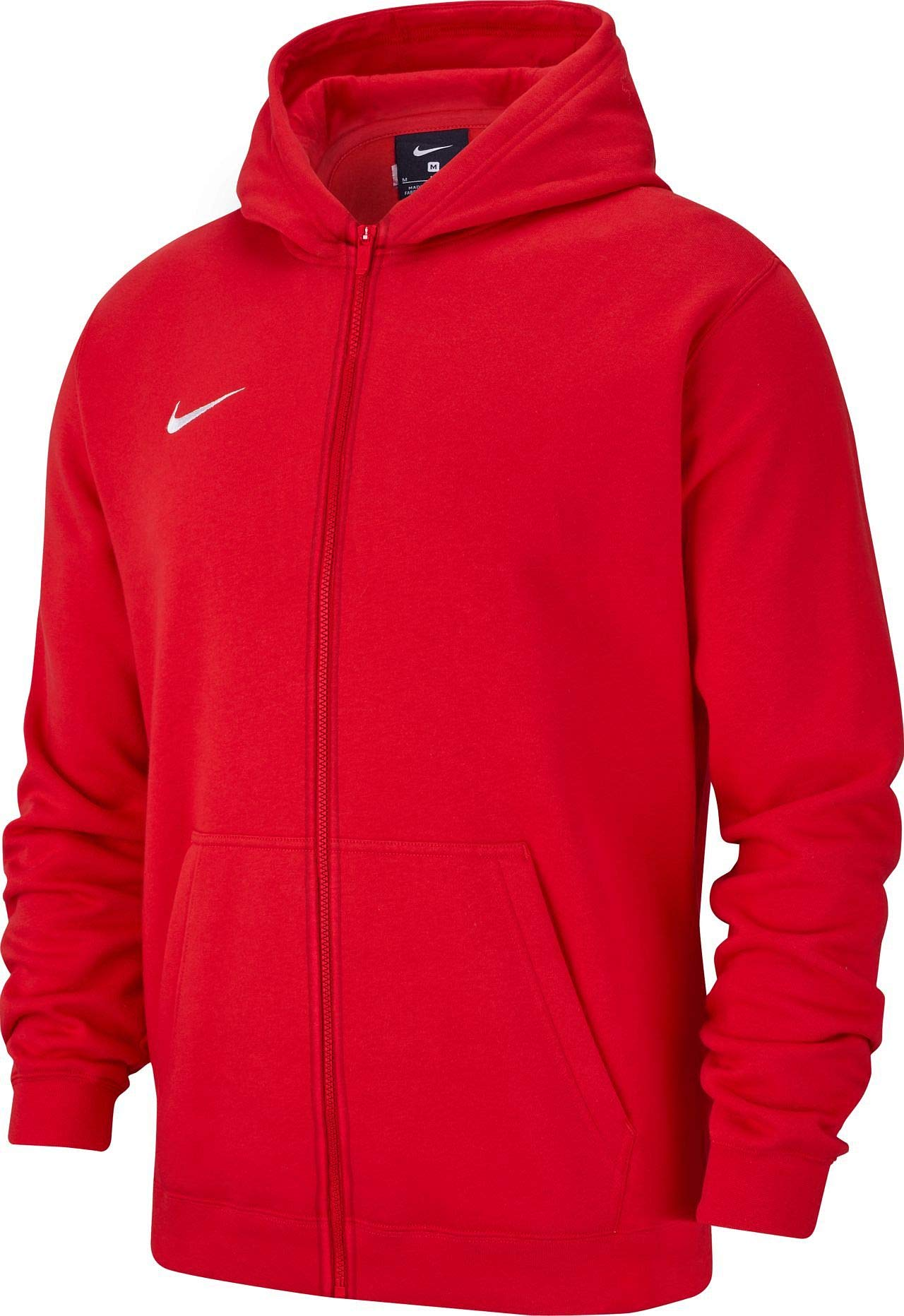 Nike Kinder Y Hoodie FZ FLC TM CLUB19 Sweatshirt, University red/White, S