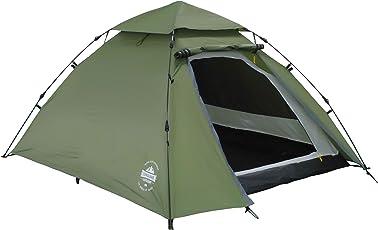 Lumaland Outdoor Pop Up Kuppelzelt Wurfzelt 3 Personen Zelt Camping Festival 215 x 195 x 120 cm verschiedene Farben